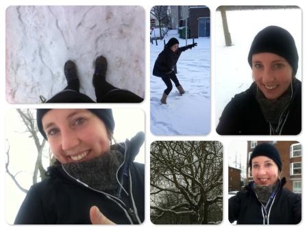 harlopen in de sneeuw