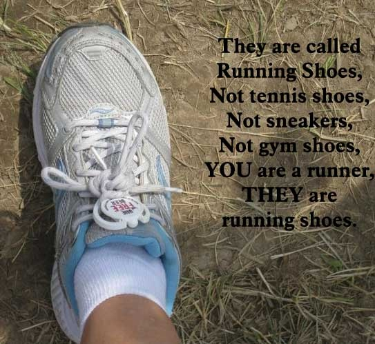 old runningshoes